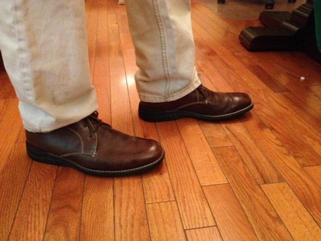Jay Kelly's new shoes